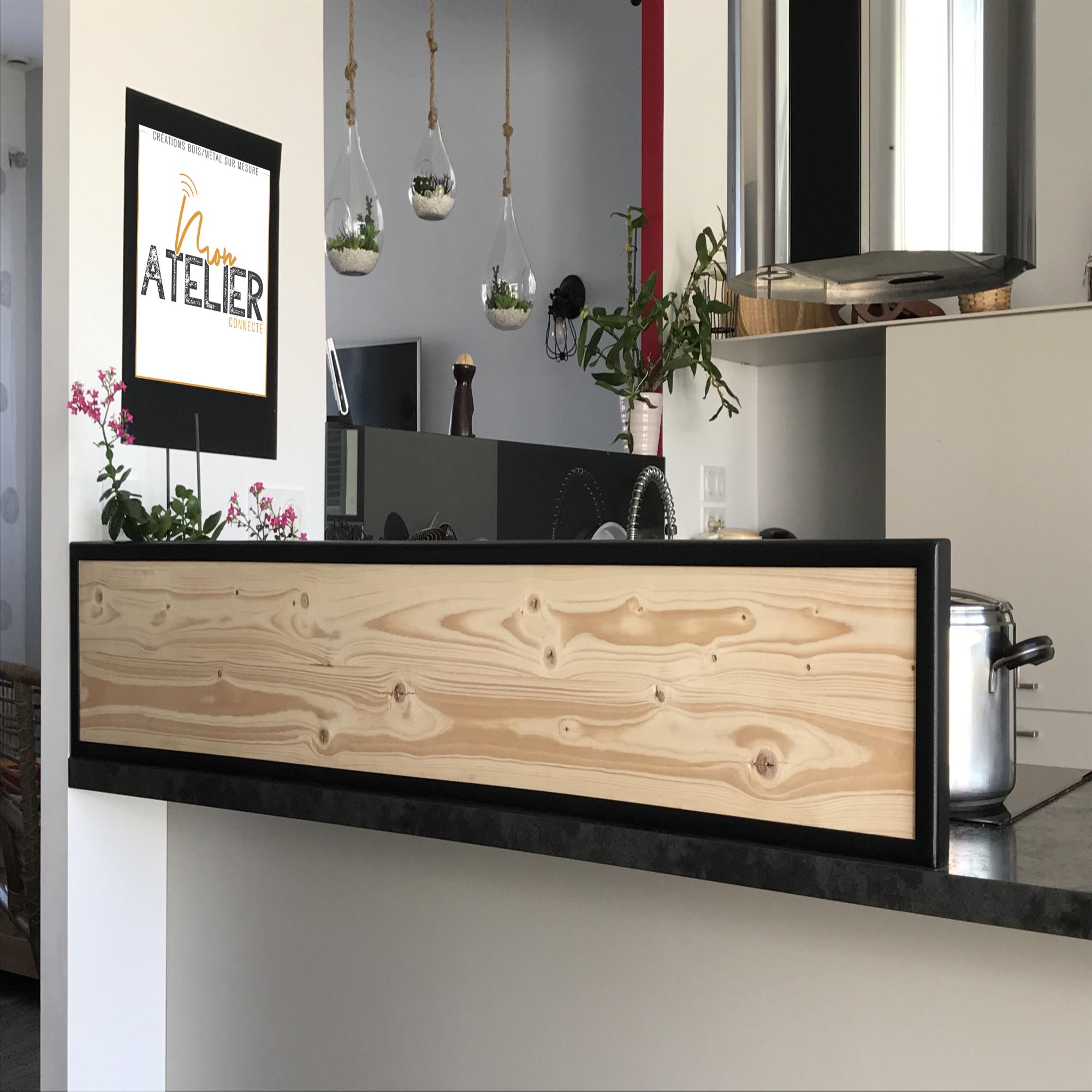 bois de palette avec cadre acier