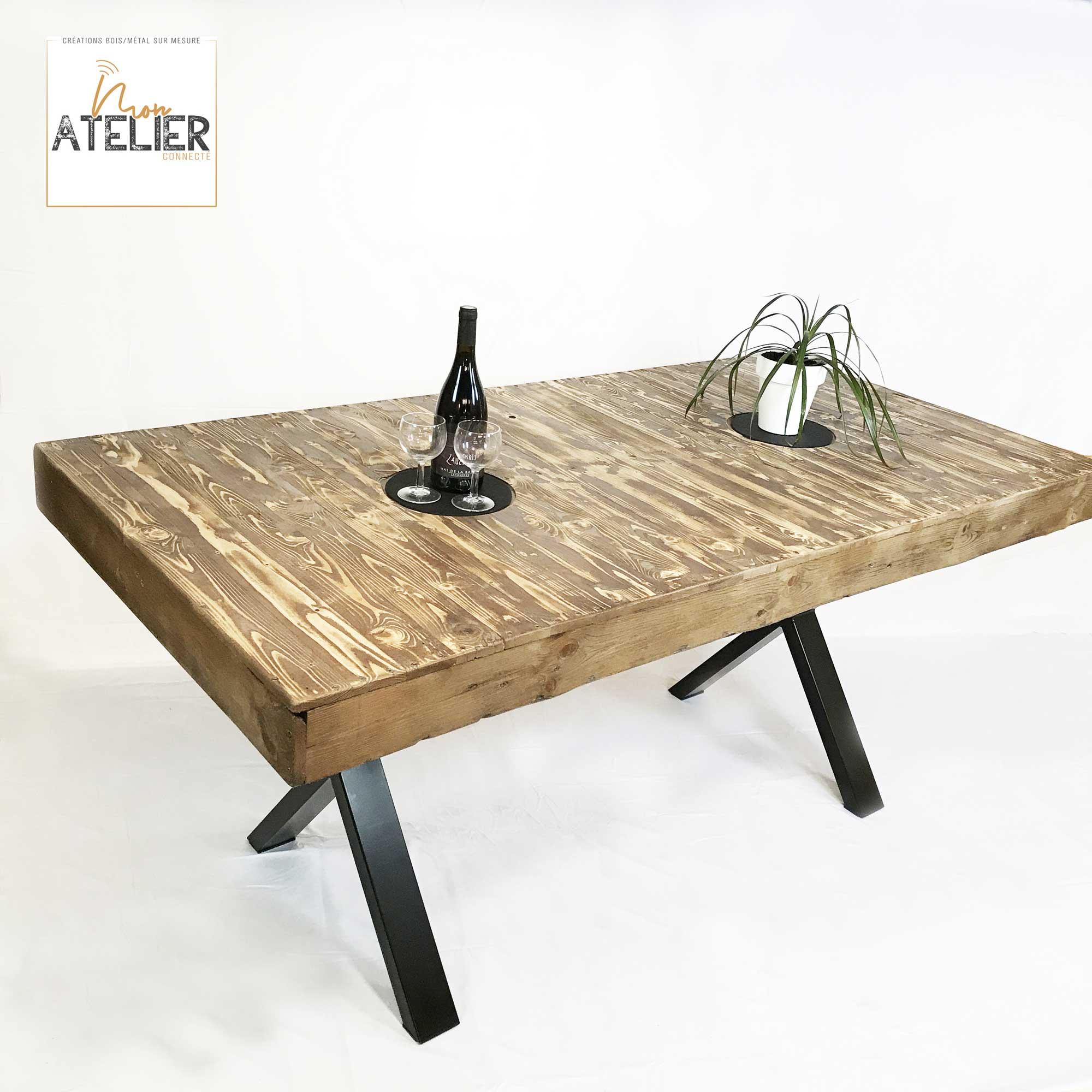 table de salle a manger en bois de palette