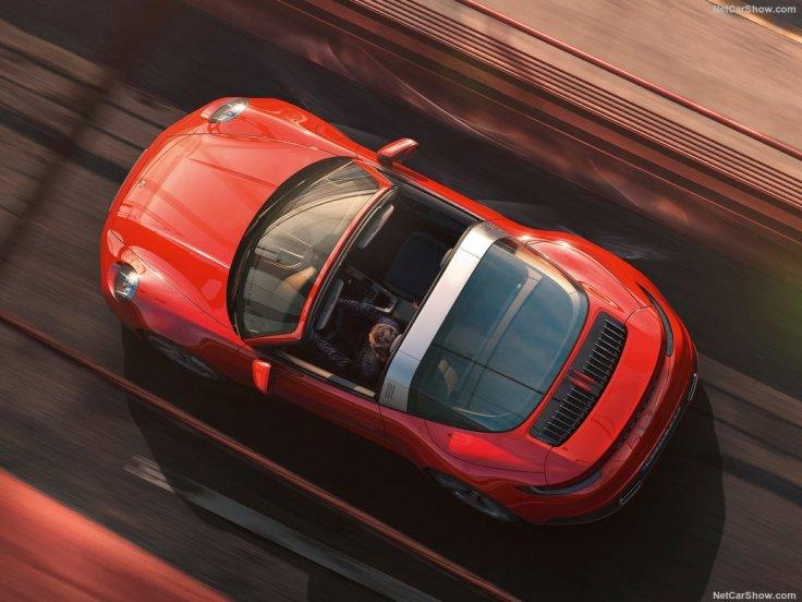 Porsche 911 Targa 2021 toit ouvert