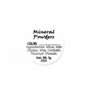 Mineral Powder (versatile) Ingredient Label