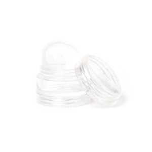 5-Gram Stackable Clear Jar with Sifter and Clear Window Top
