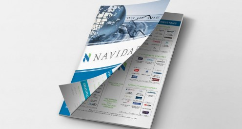 A bifold brochure created for a financial services company.