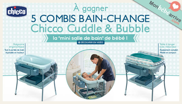 Jeu Concours 5 Combi Bain Change Chicco Gagner