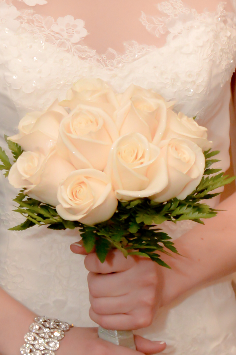 Twelve Rose Hand Tied Bouquets Las Vegas Weddings