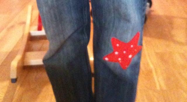 La loi de murphy du jean trou mon blog de maman - Comment reparer un jean troue au genou ...