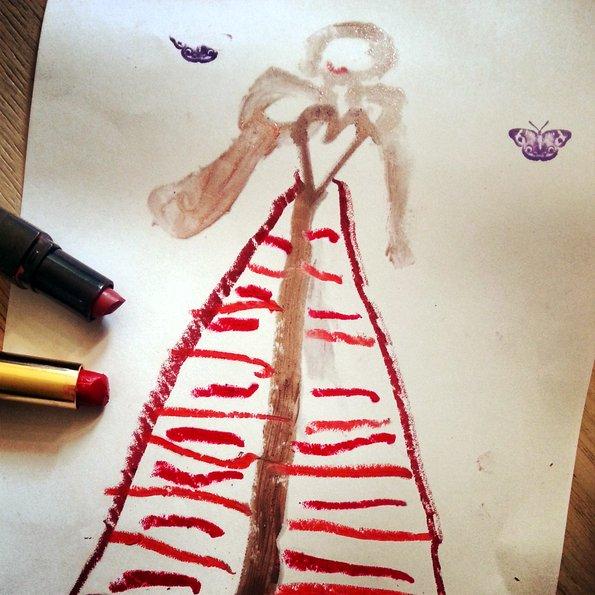 dessin-enfant-rouge-a-levres