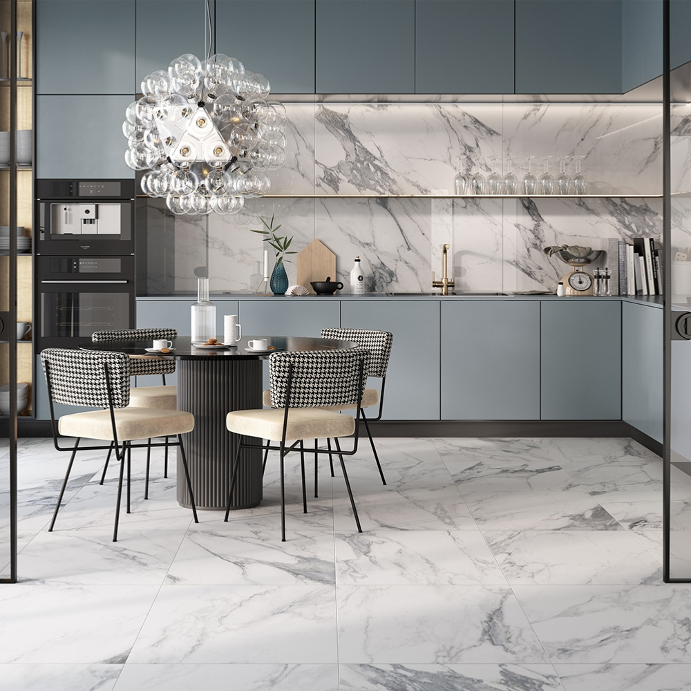 carrelage interieur effet marbre blanc 60x60 arabescato naturel rectifie collection canova rondine