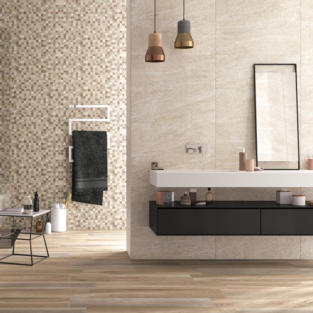carrelage salle de bain decor effet pierre rub 32x80 5 lias naturel collection lithos de naxos