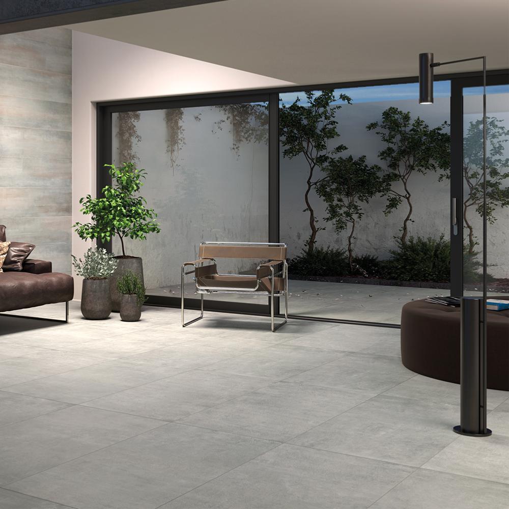carrelage sol effet beton 60x60 grigio naturel rectifie collection graphis monocibec