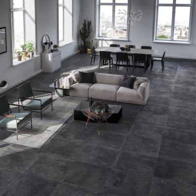 carrelage sol imitation pierre 60x60 pierre bleue naturel rectifie collection tradition monocibec