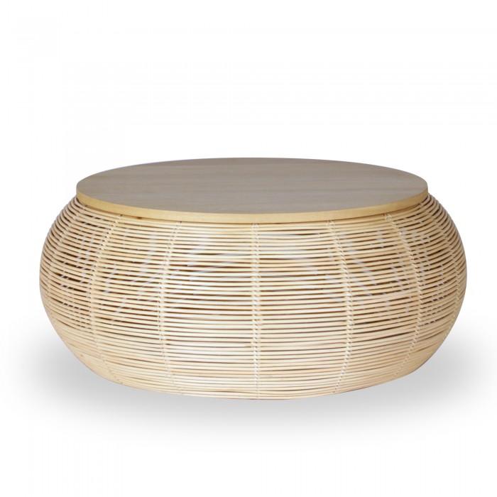 table basse rotin vivi o75 cm