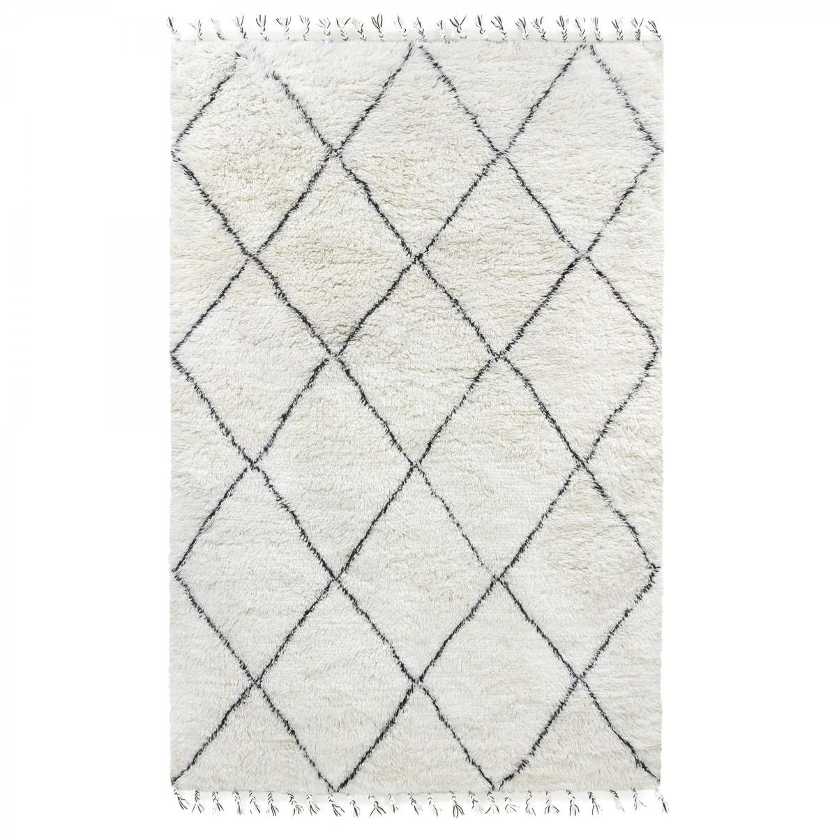 إثبات غير عادي تحد tapis blanc noir