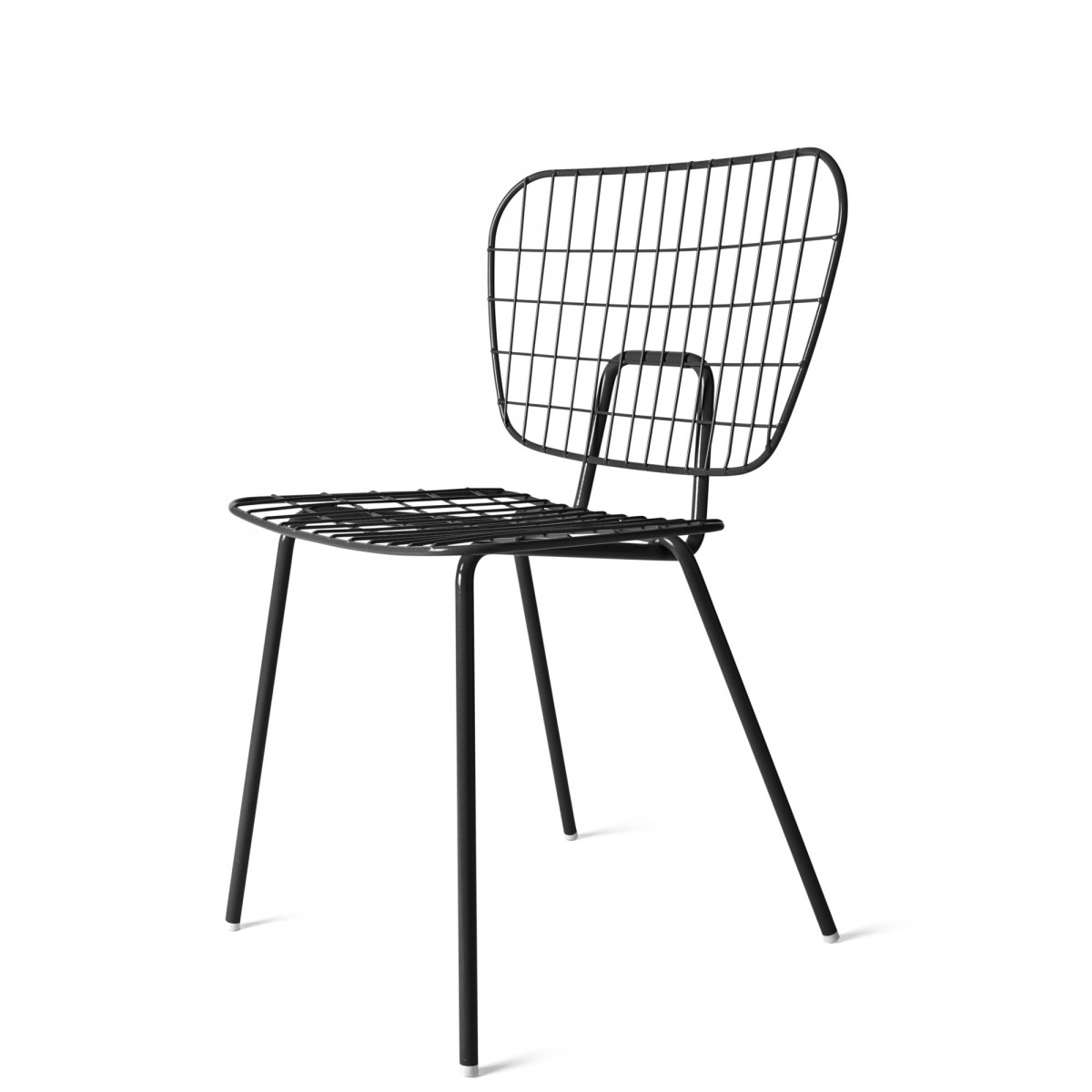 Wm String Chair In Powder Coated Steel