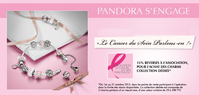 pandora octobre rose