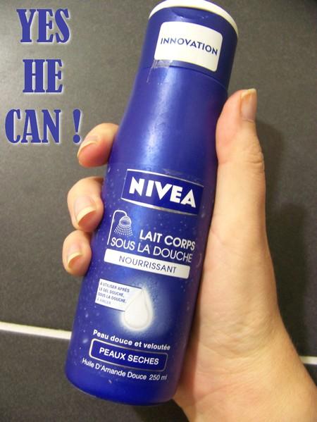 niveau lait corps sous la douche