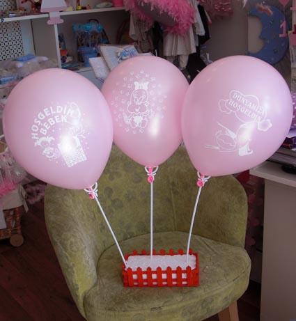 Hoşgeldin Bebek Baskılı Lateks Balon 2