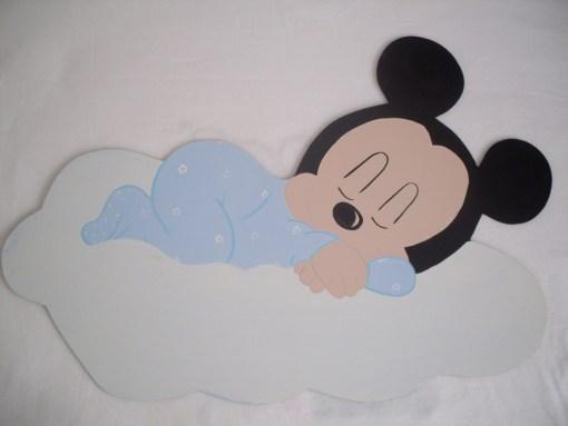 Mickey Mouse Ahşap Kapı Süsü