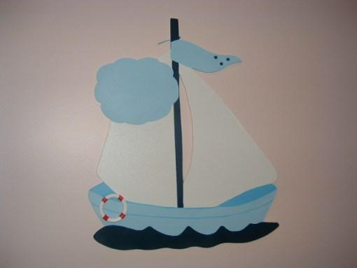 Sevimli Ahşap Yelken Kapı Süsü-3-