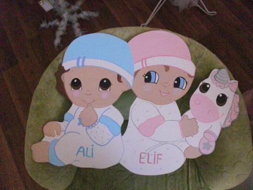 Sevimli İkizler Kapı Süsü 2