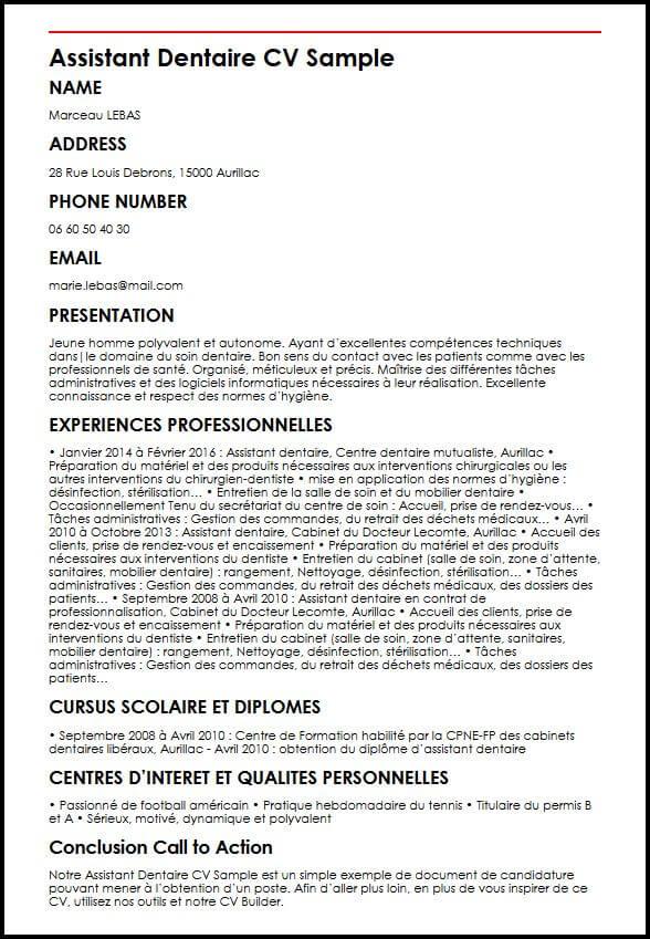 Exemple Et Modele De Cv D Assistant Dentaire