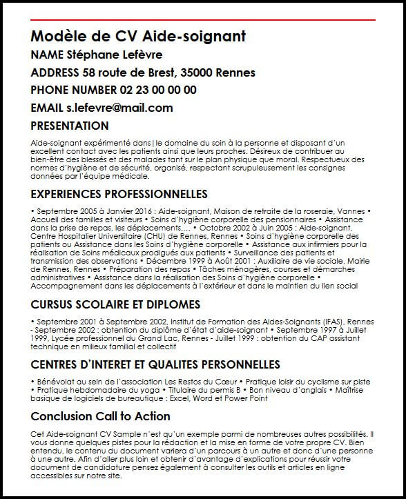 Exemple Cv Auxiliaire De Vie Sociale Le Meilleur Exemple