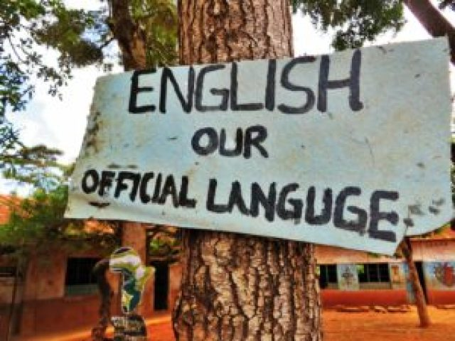 Sign in wrong English in Kenya