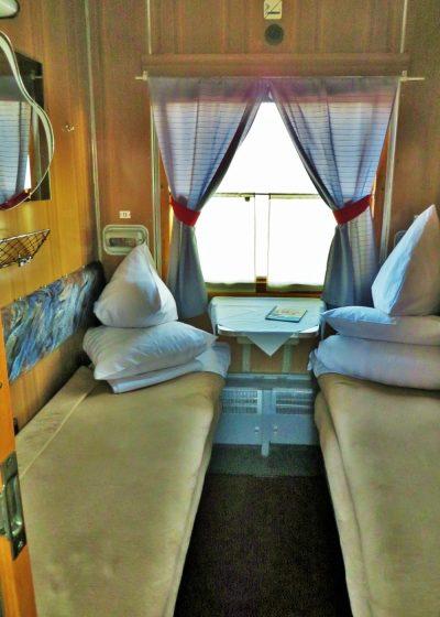 Cabine da primeira classe da Transiberiana