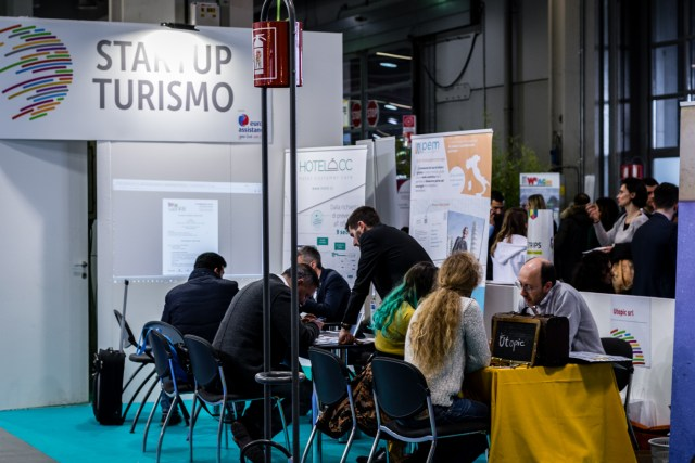 Startup area at the BIT Milan