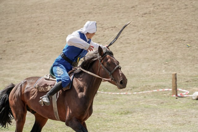 horseback archery from Kazakhstan at the World Nomad Games