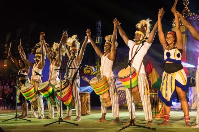 grupo africano nos Jogos mundiais nômades