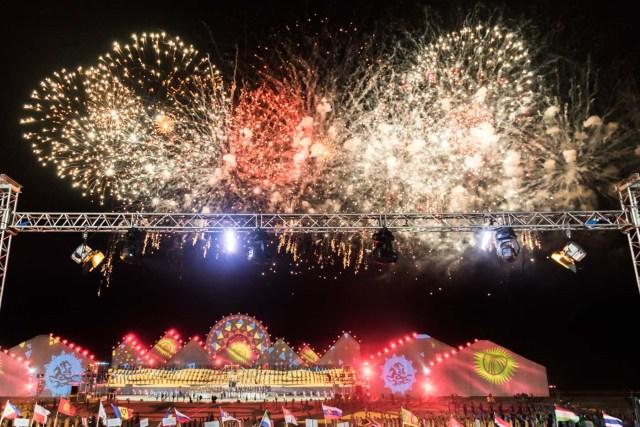 fogos nos Jogos mundiais nômades