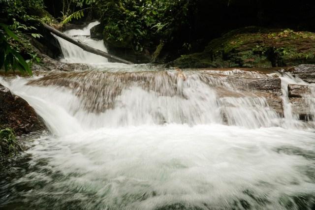 small waterfall at PETAR