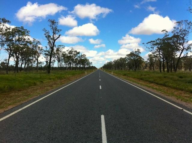 deserted road in australia