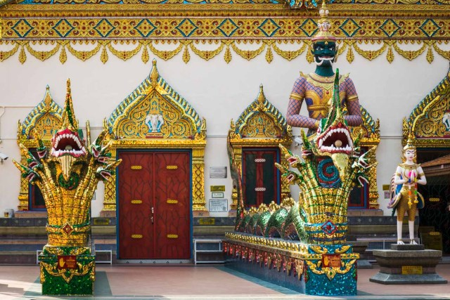 The entrance of a Buddhist Temple in Penang