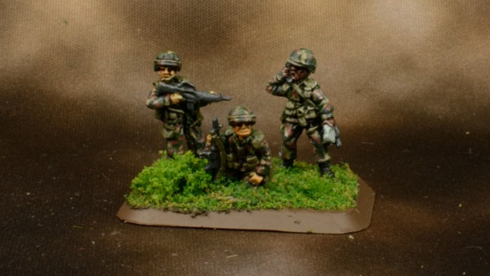 Infantry in Woodland BDU 4