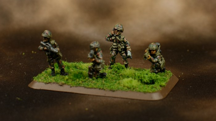 Infantry in Woodland BDU 12