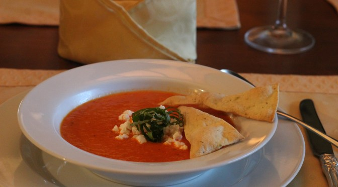 Roasted red pepper bisque