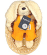 Doudou Lapin pantalon Cuddle orange 28 Keptin jr