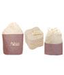 Kit Eco Belle : 15 carrés démaquillants lavables Coton Bio Biface + filet + Les Tendances D Emma