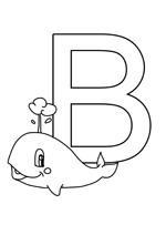 Coloriage la lettre b à colorier pour les enfants