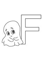 coloriage gratuit de la lettre f à imprimer