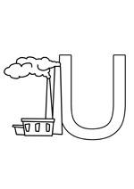 Coloriage gratuit à imprimer de la lettre u