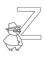 Coloriage pour apprendre l'alphabet en s'amusant