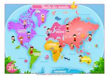 Carte du monde pour les enfants
