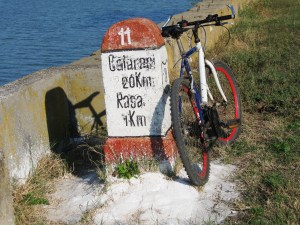 Old Milestone and Bike by
