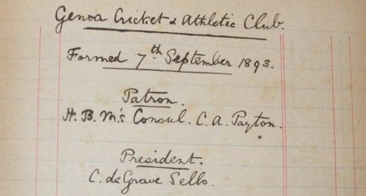 Image result for genoa 1893 atto di fondazione