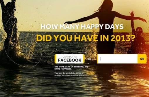 Page d'accueil du site Sunny Days Brasil
