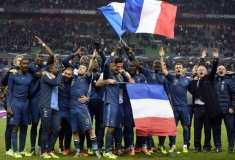 Joie equipe de France qualification au Mondial