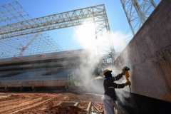 Un stade toujours en construction