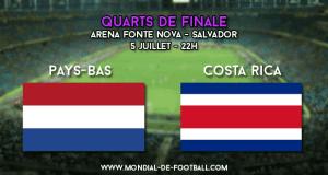 Pays-Bas - Costa Rica